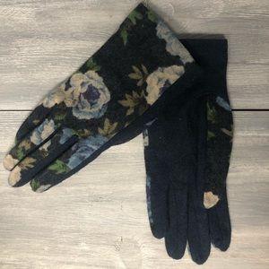 Anthropologie floral gloves